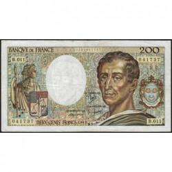 F 70-02 - 1982 - 200 francs - Montesquieu - Série B.011 - Etat : TB+