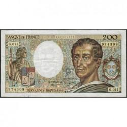 F 70-02 - 1982 - 200 francs - Montesquieu - Série G.011 - Etat : TB