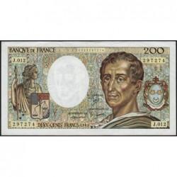 F 70-02 - 1982 - 200 francs - Montesquieu - Série J.012 - Etat : TTB+