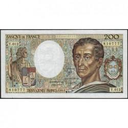 F 70-02 - 1982 - 200 francs - Montesquieu - Série Y.012 - Etat : TB