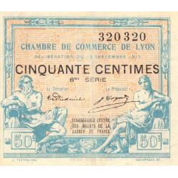 Lyon - Pirot 77-14 - 50 centimes - 6ème série - 1917 - Etat : SUP