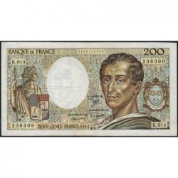 F 70-03 - 1983 - 200 francs - Montesquieu - Série K.014 - Etat : TB-