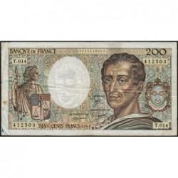 F 70-03 - 1983 - 200 francs - Montesquieu - Série T.014 - Etat : B+