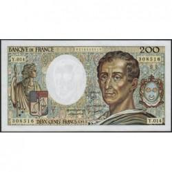 F 70-03 - 1983 - 200 francs - Montesquieu - Série Y.014 - Etat : SUP