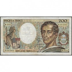F 70-03 - 1983 - 200 francs - Montesquieu - Série B.015 - Etat : TB-