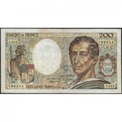 F 70-03 - 1983 - 200 francs - Montesquieu - Série J.015 - Etat : B+