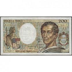 F 70-03 - 1983 - 200 francs - Montesquieu - Série M.015 - Etat : TB-