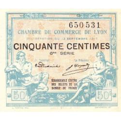 Lyon - Pirot 77-14 - 50 centimes - 6me série - 13/09/1917 - Etat : SUP+