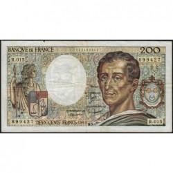 F 70-03 - 1983 - 200 francs - Montesquieu - Série R.015 - Etat : B+