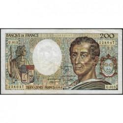 F 70-03 - 1983 - 200 francs - Montesquieu - Série U.015 - Etat : TB