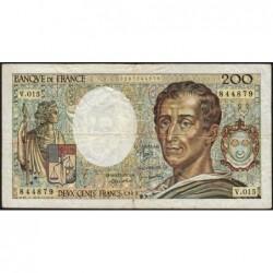 F 70-03 - 1983 - 200 francs - Montesquieu - Série V.015 - Etat : TB-