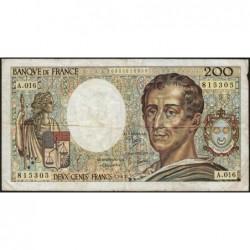 F 70-03 - 1983 - 200 francs - Montesquieu - Série A.016 - Etat : TB-