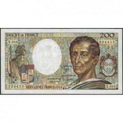 F 70-03 - 1983 - 200 francs - Montesquieu - Série X.016 - Etat : TB+