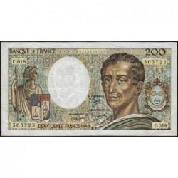 F 70-03 - 1983 - 200 francs - Montesquieu - Série F.018 - Etat : TB