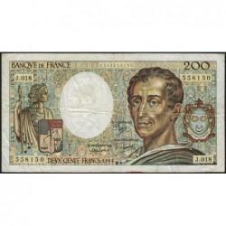 F 70-03 - 1983 - 200 francs - Montesquieu - Série J.018 - Etat : TB-