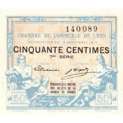 Lyon - Pirot 77-14 - 50 centimes - 7ème série - 1917 - Etat : SPL