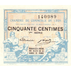 Lyon - Pirot 77-14 - 50 centimes - 7me série - 13/09/1917 - Etat : SPL