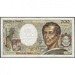 F 70-03 - 1983 - 200 francs - Montesquieu - Série P.020 - Etat : TB