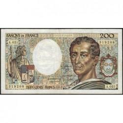 F 70-03 - 1983 - 200 francs - Montesquieu - Série A.021 - Etat : TB-