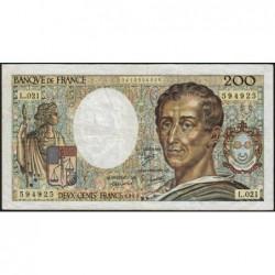 F 70-03 - 1983 - 200 francs - Montesquieu - Série L.021 - Etat : TB