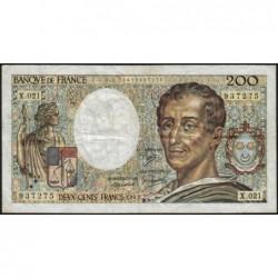 F 70-03 - 1983 - 200 francs - Montesquieu - Série X.021 - Etat : TB-