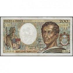 F 70-04 - 1984 - 200 francs - Montesquieu - Série C.022 - Etat : TB-