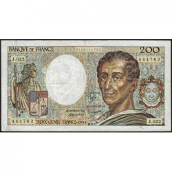 F 70-04 - 1984 - 200 francs - Montesquieu - Série J.022 - Etat : TB-