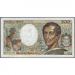 F 70-04 - 1984 - 200 francs - Montesquieu - Série T.022 - Etat : TB-