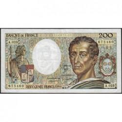 F 70-04 - 1984 - 200 francs - Montesquieu - Série A.023 - Etat : TTB-