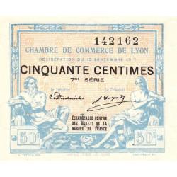 Lyon - Pirot 77-14 - 50 centimes - 7ème série - 1917 - Etat : NEUF