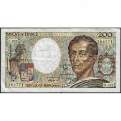 F 70-04 - 1984 - 200 francs - Montesquieu - Série B.023 - Etat : TB-