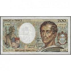F 70-04 - 1984 - 200 francs - Montesquieu - Série J.023 - Etat : TB