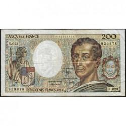F 70-04 - 1984 - 200 francs - Montesquieu - Série N.023 - Etat : B+