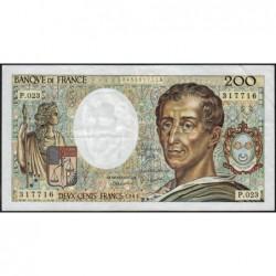 F 70-04 - 1984 - 200 francs - Montesquieu - Série P.023 - Etat : TTB