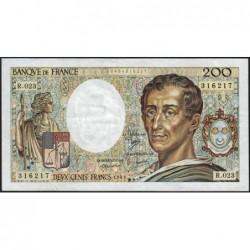 F 70-04 - 1984 - 200 francs - Montesquieu - Série R.023 - Etat : TTB-