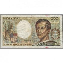 F 70-04 - 1984 - 200 francs - Montesquieu - Série R.023 - Etat : B