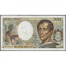 F 70-04 - 1984 - 200 francs - Montesquieu - Série Y.023 - Etat : TB-