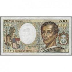 F 70-04 - 1984 - 200 francs - Montesquieu - Série T.024 - Etat : TB