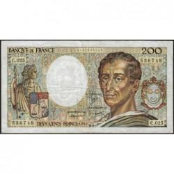 F 70-04 - 1984 - 200 francs - Montesquieu - Série C.025 - Etat : TB-