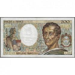 F 70-04 - 1984 - 200 francs - Montesquieu - Série J.025 - Etat : TB