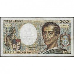 F 70-04 - 1984 - 200 francs - Montesquieu - Série N.025 - Etat : TB
