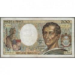 F 70-04 - 1984 - 200 francs - Montesquieu - Série X.025 - Etat : TB-