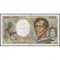 F 70-04 - 1984 - 200 francs - Montesquieu - Série A.026 - Etat : TB
