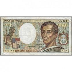 F 70-04 - 1984 - 200 francs - Montesquieu - Série P.026 - Etat : TB-