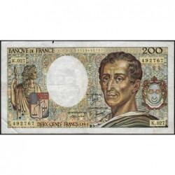 F 70-05 - 1985 - 200 francs - Montesquieu - Série K.027 - Etat : TB-