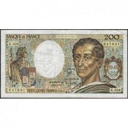 F 70-05 - 1985 - 200 francs - Montesquieu - Série X.028 - Etat : TB-
