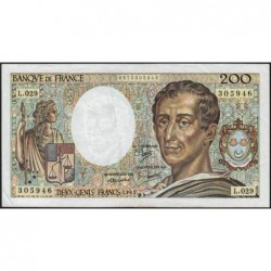 F 70-05 - 1985 - 200 francs - Montesquieu - Série L.029 - Etat : TB+