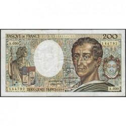 F 70-05 - 1985 - 200 francs - Montesquieu - Série A.030 - Etat : B+