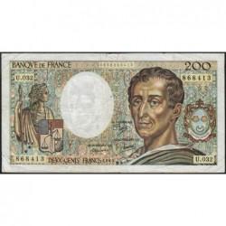 F 70-05 - 1985 - 200 francs - Montesquieu - Série U.032 - Etat : B+