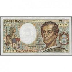 F 70-05 - 1985 - 200 francs - Montesquieu - Série E.034 - Etat : TB